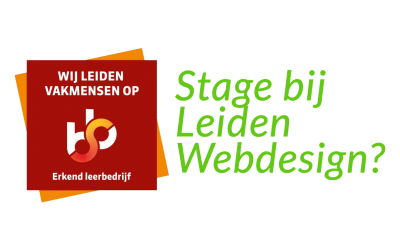 Stageplaats bij Leiden Webdesign
